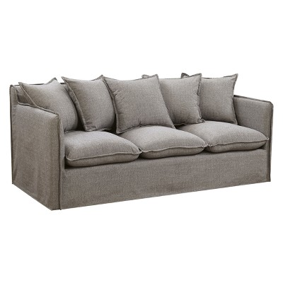 Lazenby Transitional Welting Trim Sofa Gray - ioHOMES