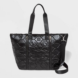 Pearlized Onion Quilted Nylon Weekender Bag - JoyLab™ Black
