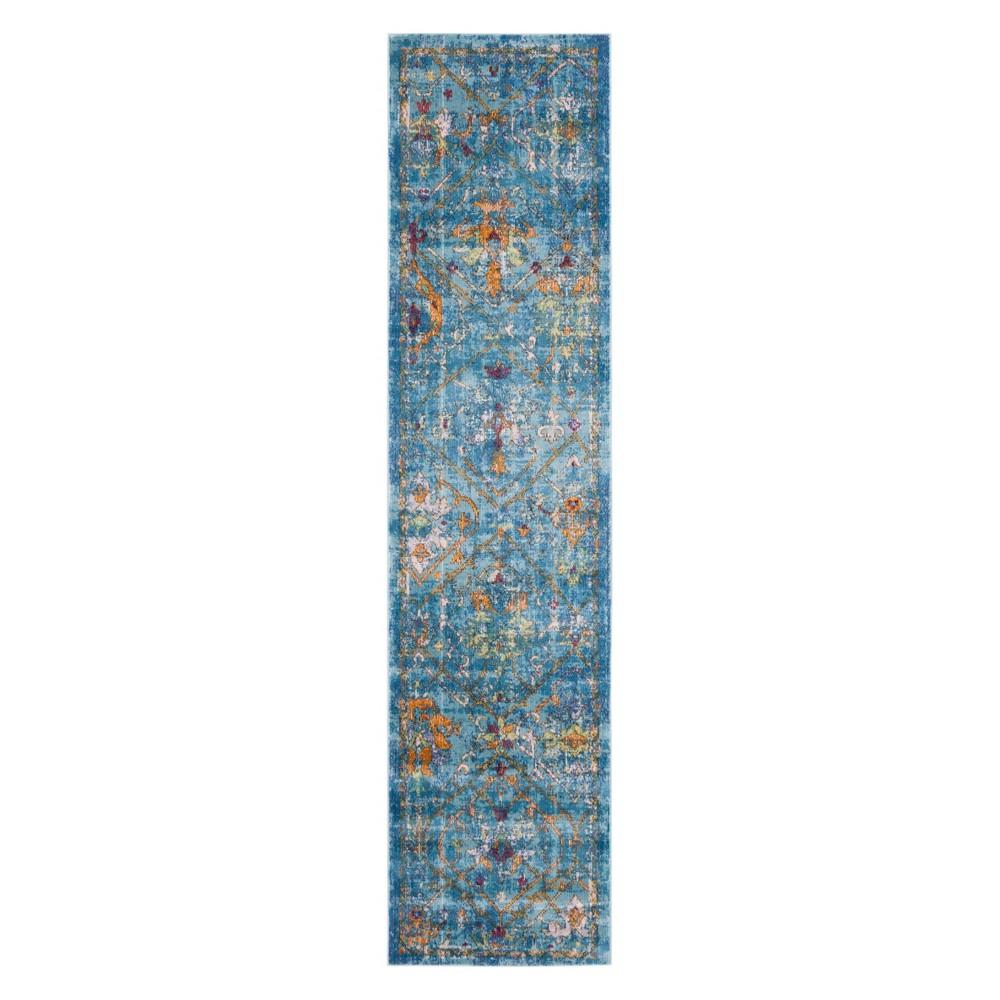 2X8 Medallion Loomed Runner Blue - Safavieh Buy