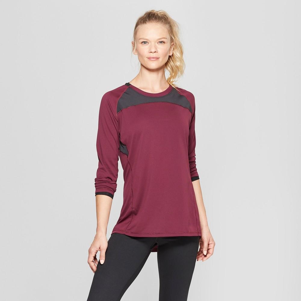 Women's Long Sleeve Run T-Shirt - C9 Champion Dark Berry Purple L
