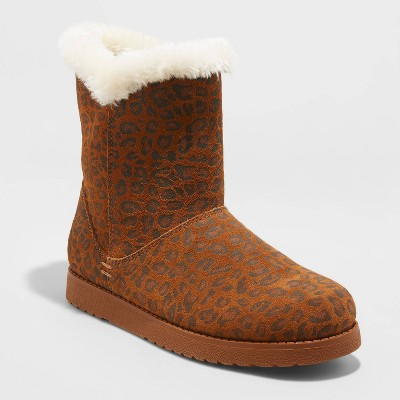 Women's Cat Mid Shearling Style Boots - Universal Thread™