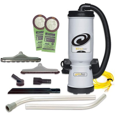 ProTeam 105892 MegaVac 10 Quart Multifunctional Backpack Vacuum with Blower, Hard Surface Tool Kit, Various Attachments, and 50 Foot Extension Cord