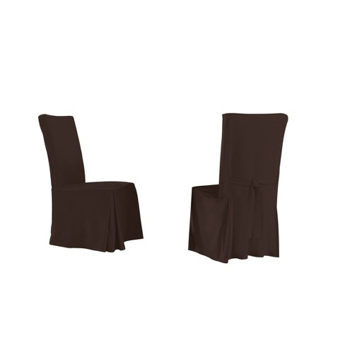 4pk Relaxed Fit Smooth Suede Furniture Dining Chair Slipcover - Serta - image 1 of 2