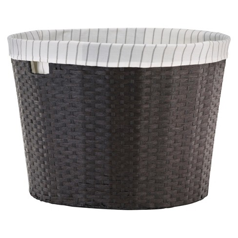 Tapered Round Cube Storage Basket with Liner - Large - Threshold™ - image 1 of 1