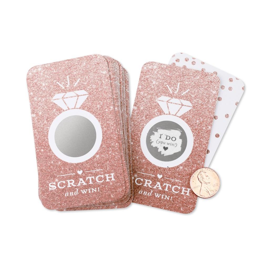 Image of 24ct Glitter Scratch Off Game Cards Rose Copper