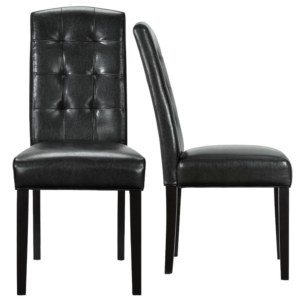 Perdure Dining Chairs Set of 2 Black - Modway