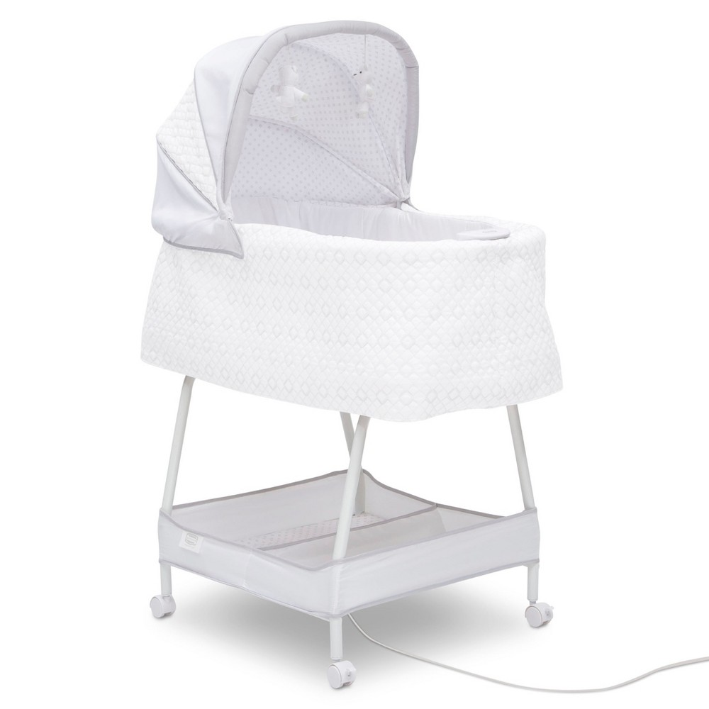 Image of Simmons Kids Silent Auto Gliding Elite Bassinet - Odyssey, White