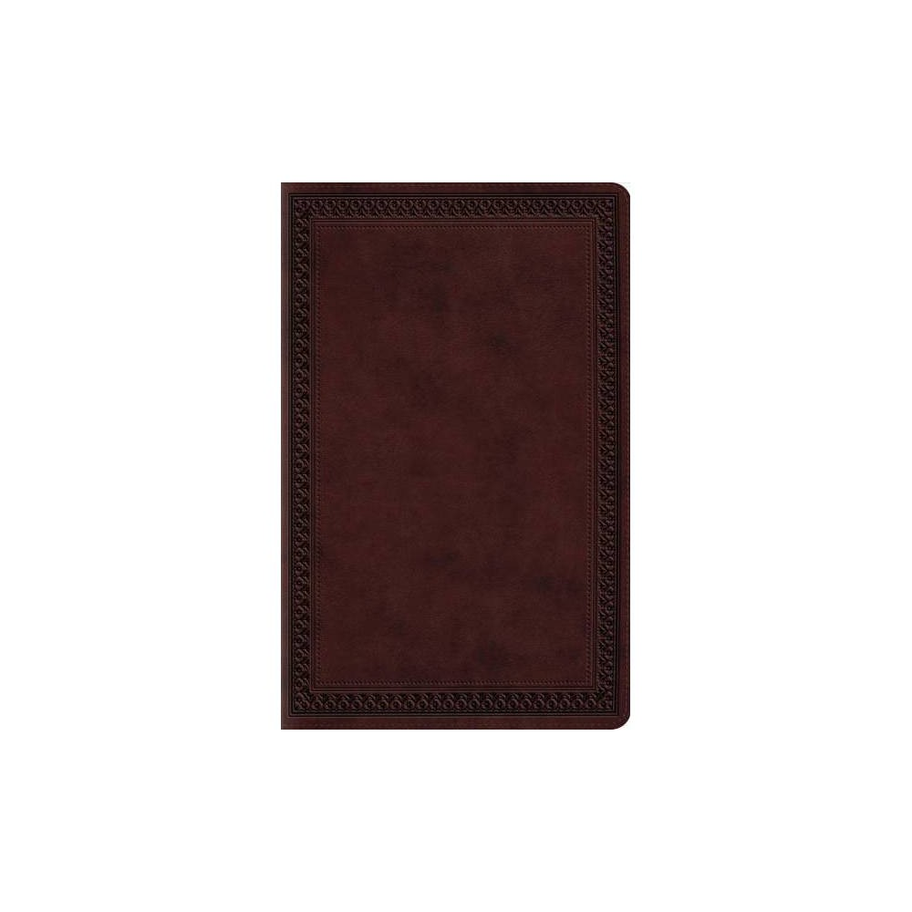 Holy Bible : English Standard Version, Premium Gift Bible, Mahogany, Trutone, Border Design