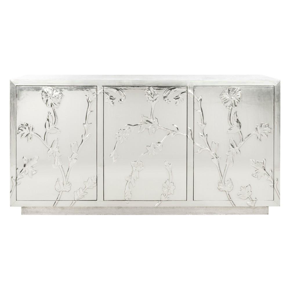 Narcisa Floral Sideboard Silver - Safavieh