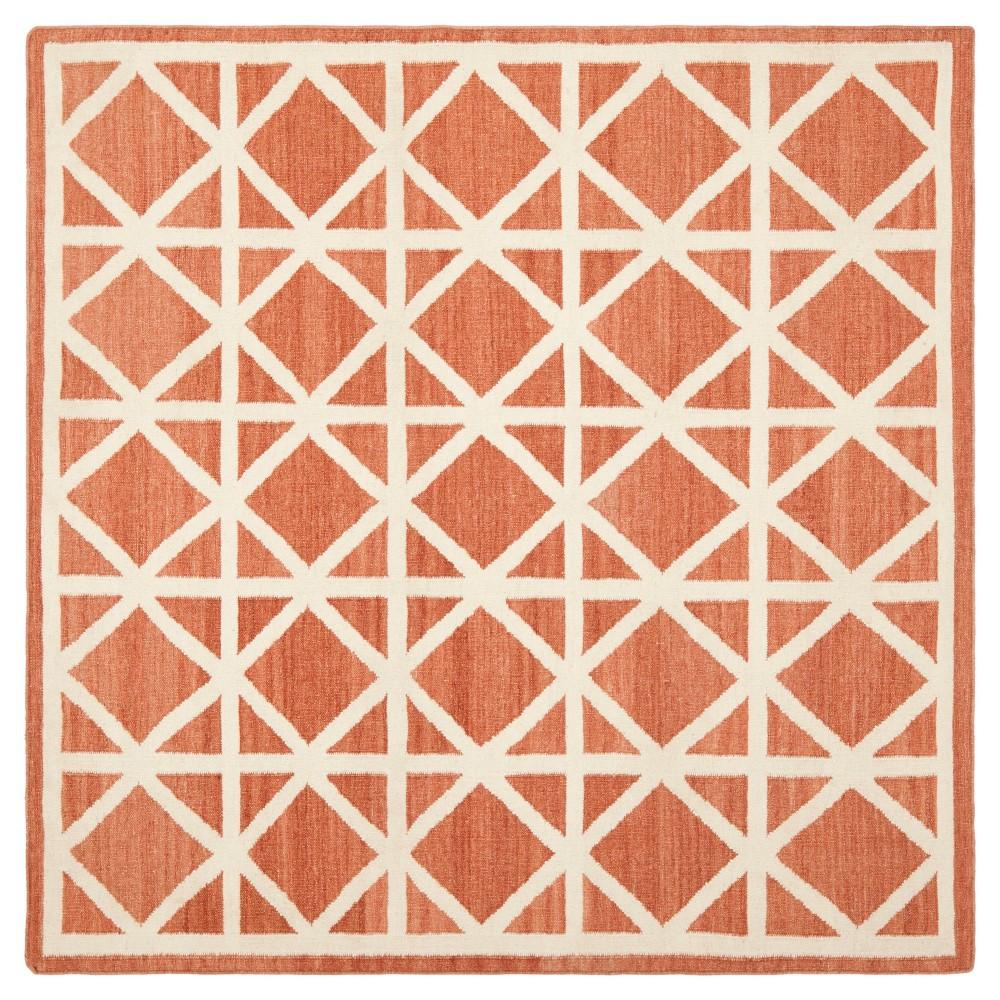 Pierce Area Rug - Red / Ivory (6' X 6') - Safavieh, Red/Ivory