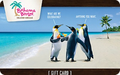 Bahama Breeze $25 (Email Delivery)