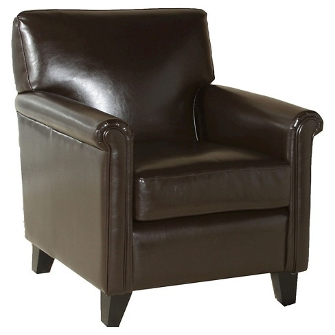 Leeds Classic Club Chair Brown - Christopher Knight Home - image 1 of 4