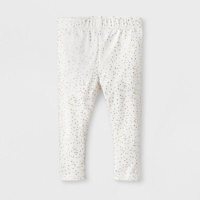 Baby Girls' Bow Back Leggings - Cat & Jack™ White 18M