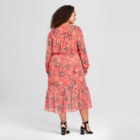 Womens Plus Size Flowy Maxi Dress Who What Wear Target