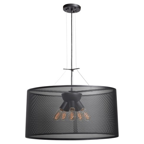 "Epic 28""H Round LED Pendant - Black - image 1 of 1"