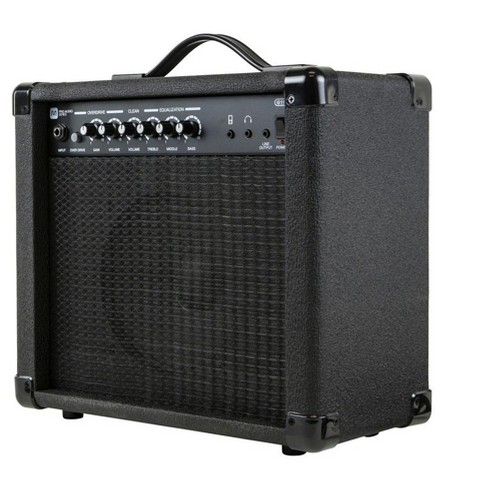 Monoprice 20-Watt 1x8 Guitar Combo Amplifier - Black With 86dB of Gain, 1/4 Inch, Headphone and 3.5mm Aux Mp3 Inputs For Electric Guitars - image 1 of 4