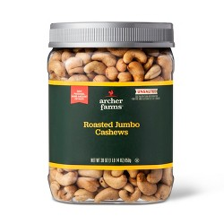 Unsalted Roasted Cashews - 30oz - Archer Farms™