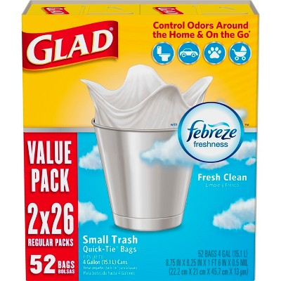 Glad Small Household Trash Bags - 4 Gallon