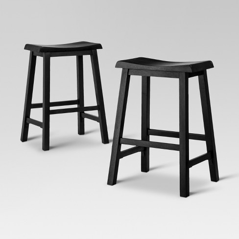 Tremendous Trenton 24 Counter Stool Black Set Of 2 Threshold Cjindustries Chair Design For Home Cjindustriesco