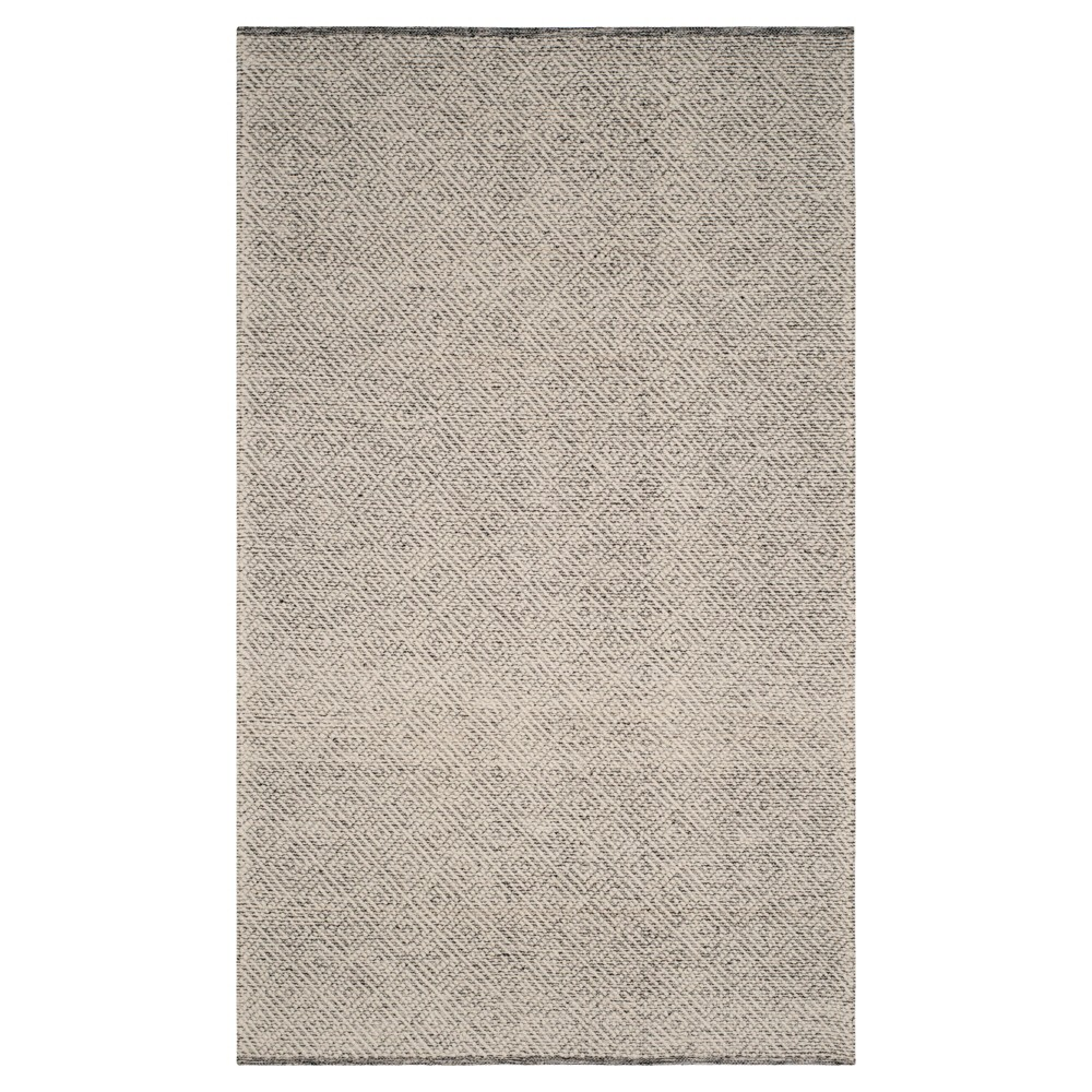 Ivory/Light Gray Geometric Tufted Area Rug - (6'X9') - Safavieh