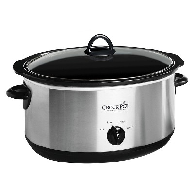 Crock-Pot® 8 Qt. Manual Slow Cooker - Stainless Steel SCV800