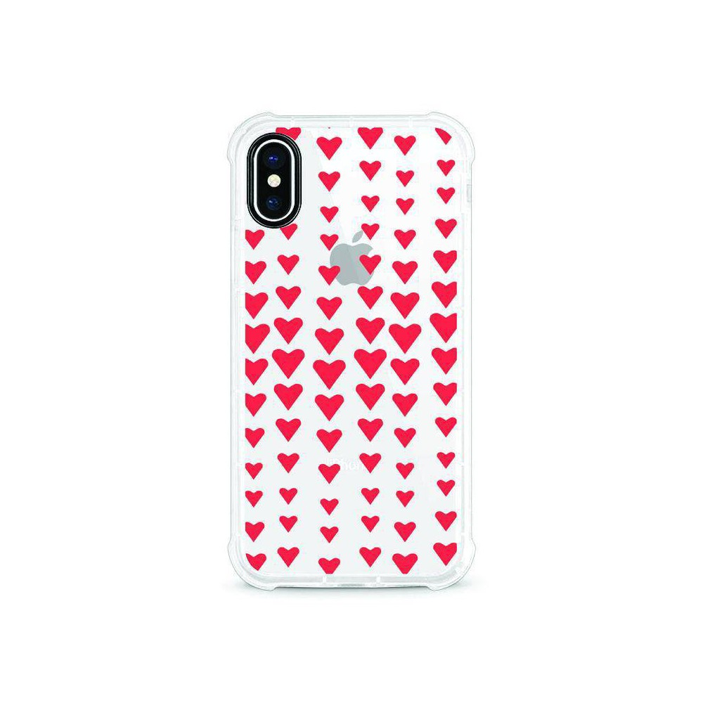 Otm Essentials Apple iPhone XS Max Rugged Edge Clear Case - Falling Red Hearts