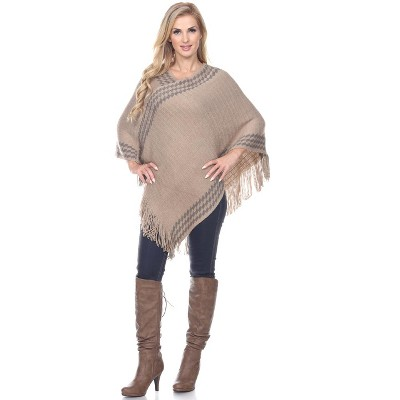 Women's Nevaeh Poncho - One Size Fits Most - White Mark