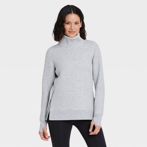 Women's Quilted Pullover with Funnel Neck Collar - All in Motion™ - image 1 of 4