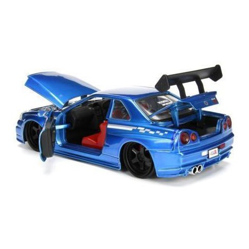 2002 Nissan Skyline Gt R R34 Blue 02 Jdm Tuners 1 24 Diecast Model Car By Jada