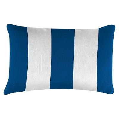 Outdoor Throw Pillow Set Jordan Manufacturing Cabana Blue White
