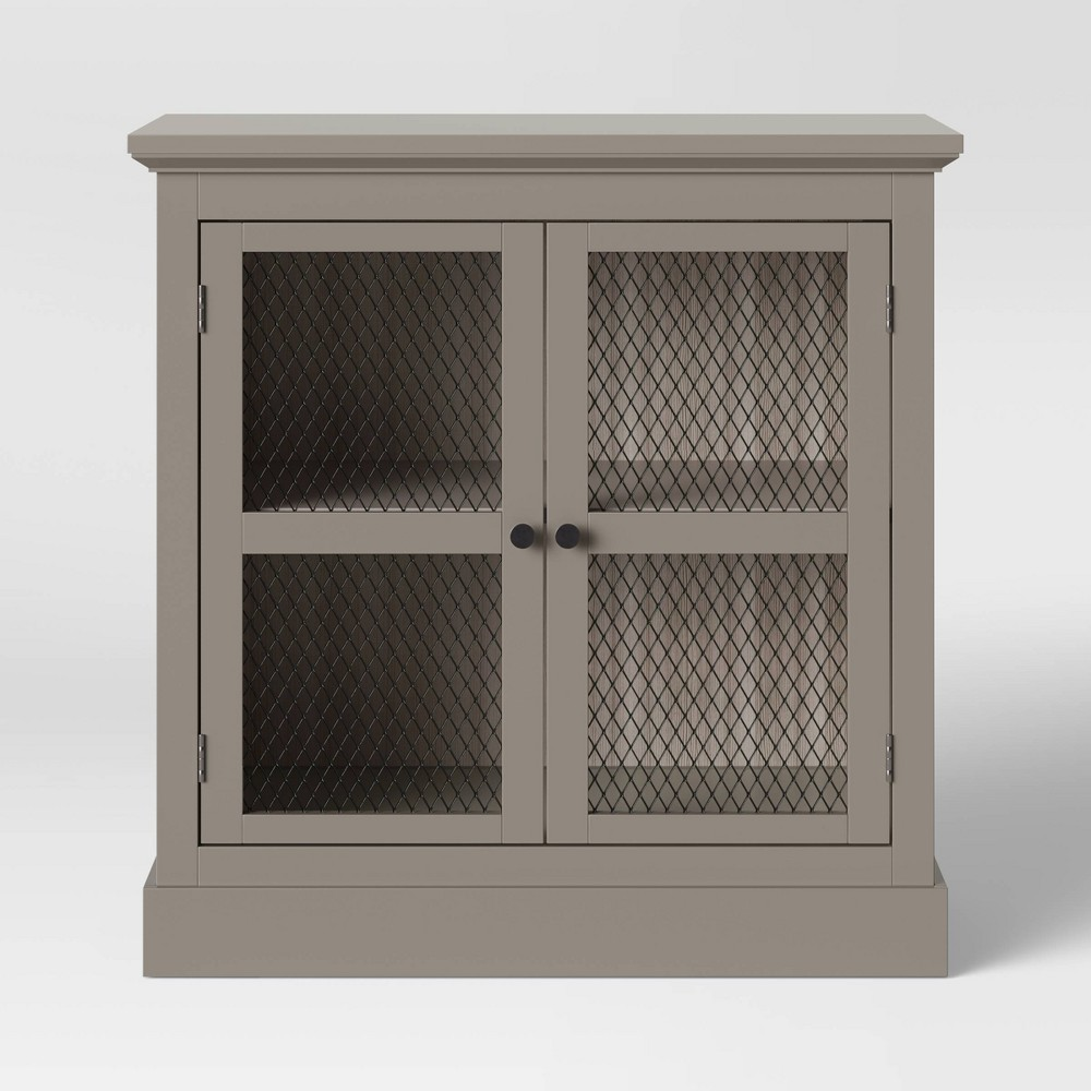 Lunenburg Farmhouse 2 Door Accent Cabinet Gray - Threshold