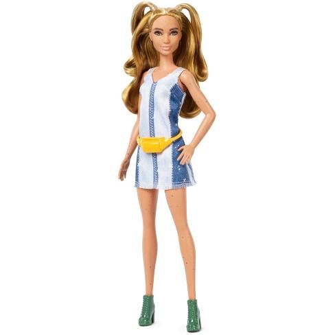 4c4f855137 Barbie Fashionistas Doll 108 - Partial Updo With Denim Dress   Target