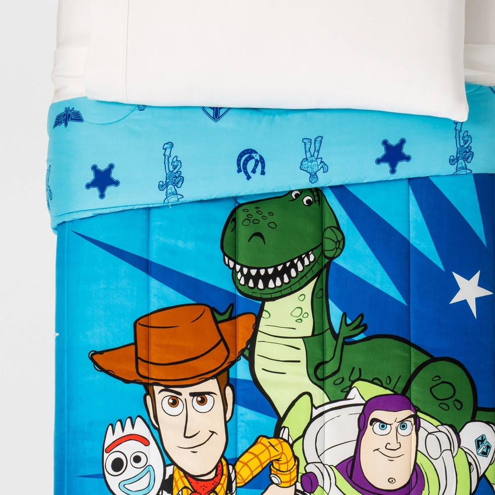 Image of Toy Story 4 Twin Comforter Blue