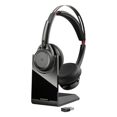 Plantronics Voyager Focus UC Bluetooth USB B825 - Dual Ear (Stereo) Headset - Computer & Mobile Phone Headset with Active Noise Canceling - Plantronics a Poly Company