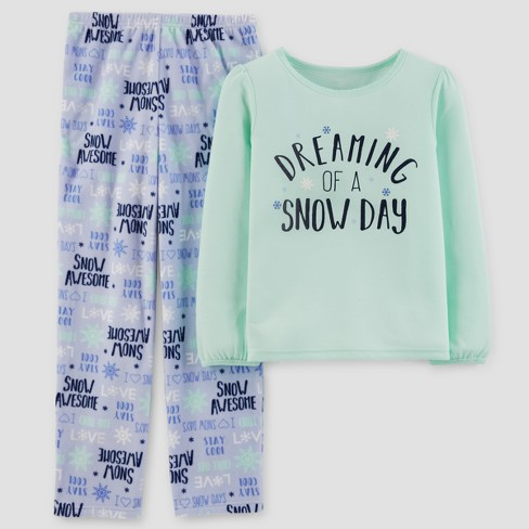 495d500bb549 Just One You™ Made By Carter s® Girls  2pc Mint Snow Day Pajama Set ...