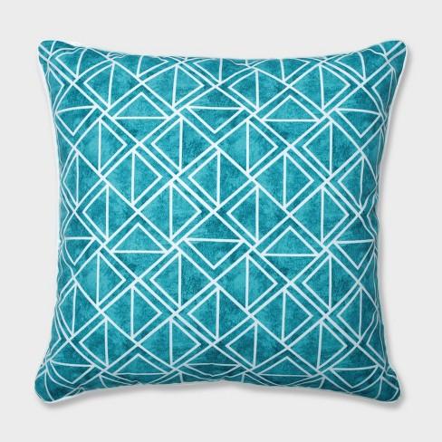 "25"" Lanova Peacock Floor Pillow Blue - Pillow Perfect - image 1 of 2"
