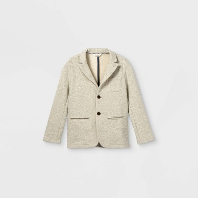 Boys' Knit Blazer Jacket - Cat & Jack™ Gray