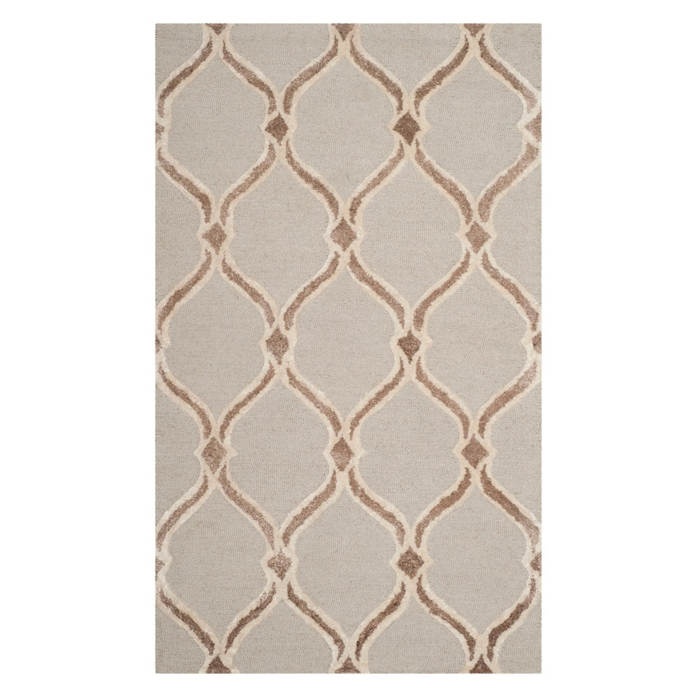 3X5 Geometric Accent Rug Taupe/Ivory - Safavieh Reviews