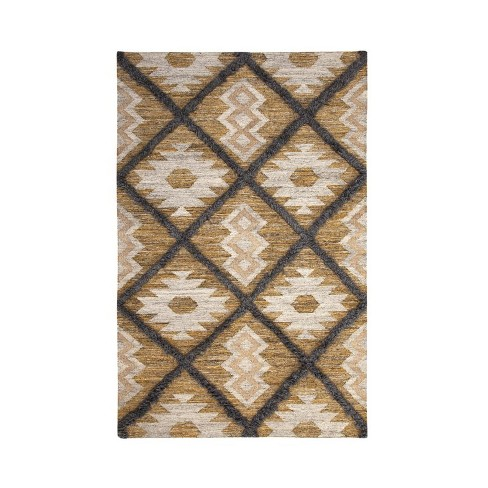 Abacasa Fes Yellow-Blue-Grey-and Natural 8x10 Area Rug - Sam's International - image 1 of 1