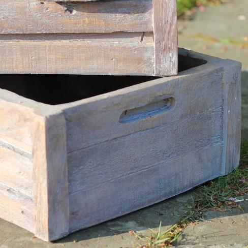 Northlight 21 Planter Boxes 3 Tier Outdoor Patio Garden Water Fountain Brown