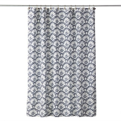 Vern Yip Boho Floral Shower Curtain White - SKL Home