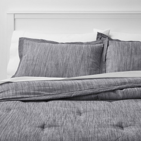 Sham Set Gray Chambray Threshold, Target Gray Bedding Sets