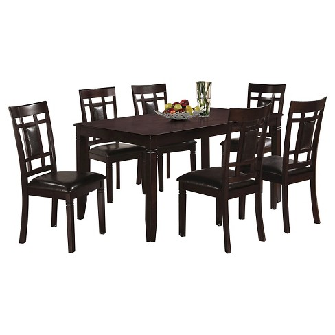 Sonata 7 Piece Dining Set - Espresso - Acme