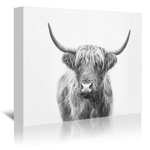 Americanflat Highland Bull By Sisi And Seb Canvas Target