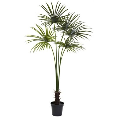 7' Fan Palm Tree - Nearly Natural