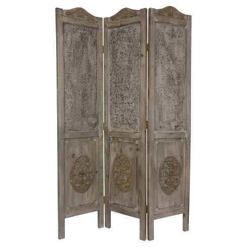 6 ft. Tall Closed Mesh Design Room Divider - Oriental Furniture - image 1 of 1
