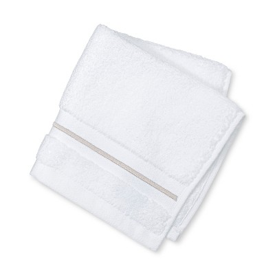 Spa Stripe Accent Washcloth Beige Linen - Fieldcrest®