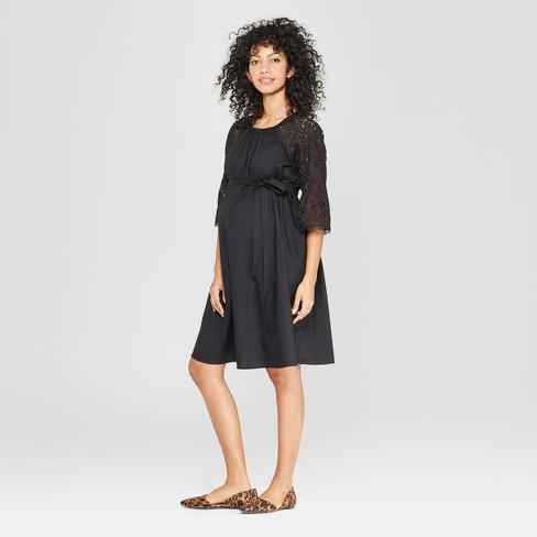 91e2a8b9dca3 Maternity Lace Sleeve Shift Dress - Isabel Maternity by Ingrid & Isabel™  Black