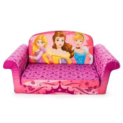 Marshmallow Furniture Childrenu0027s 2 In 1 Flip Open Foam Sofa Disney Princess  Flip Open Sofa : Target