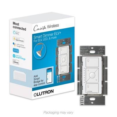 Lutron Caseta Wireless Smart Lighting ELV+ Dimmer Switch - (PD-5NE-BL) - Black